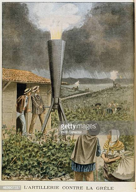 Firing a cannon into clouds to prevent a hail storm 1901 It was claimed that rain fell instead of the anticipated hail which would have damaged the...