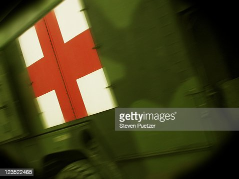 First aid Army truck : Stock Photo