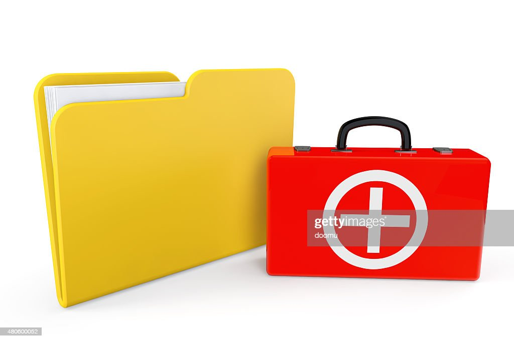 First Aid Case with Folder : Stock Photo