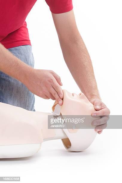 Primeiros socorros CPR-claro para vias aéreas
