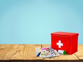 First Aid Kit, First Aid, Healthcare And Medicine.