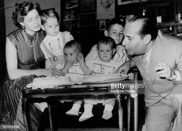 First Anniversary Of Rosselini Bergman Twins On June 19Th 1953