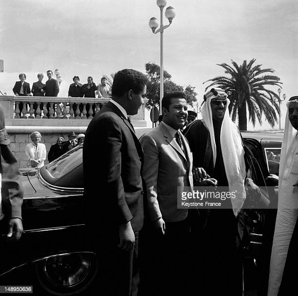 First Appearance Of King Ibn Saud Outside The Negresco Hotel In Nice on April 1 1963 in Nice France