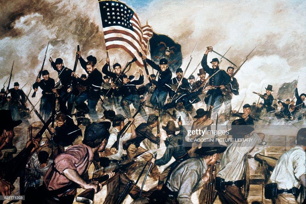 First at Vicksburg May 19 painting by Hugh Charles Mcbarron Jr American Civil War United States of America 19th century