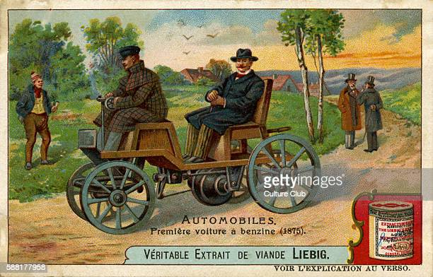 First automobile running on benzene 1875 originally developed by German car pioneer Siegfried Samuel Marcus the first man propelling a vehicle by...