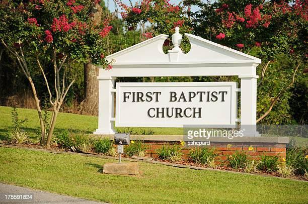 First baptist church sign