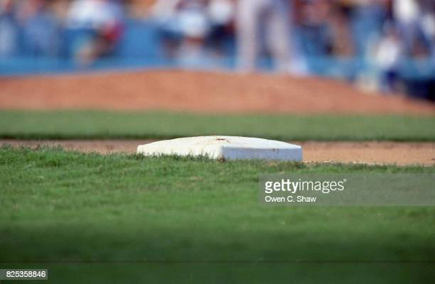 First Base at Dodger Stadium circa 1994 in Los Angeles California