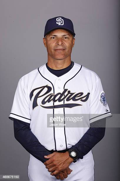 First Base coach Jose Valentin of the San Diego Padres poses during Photo Day on Monday March 2 2015 at Peoria Stadium in Peoria Arizona