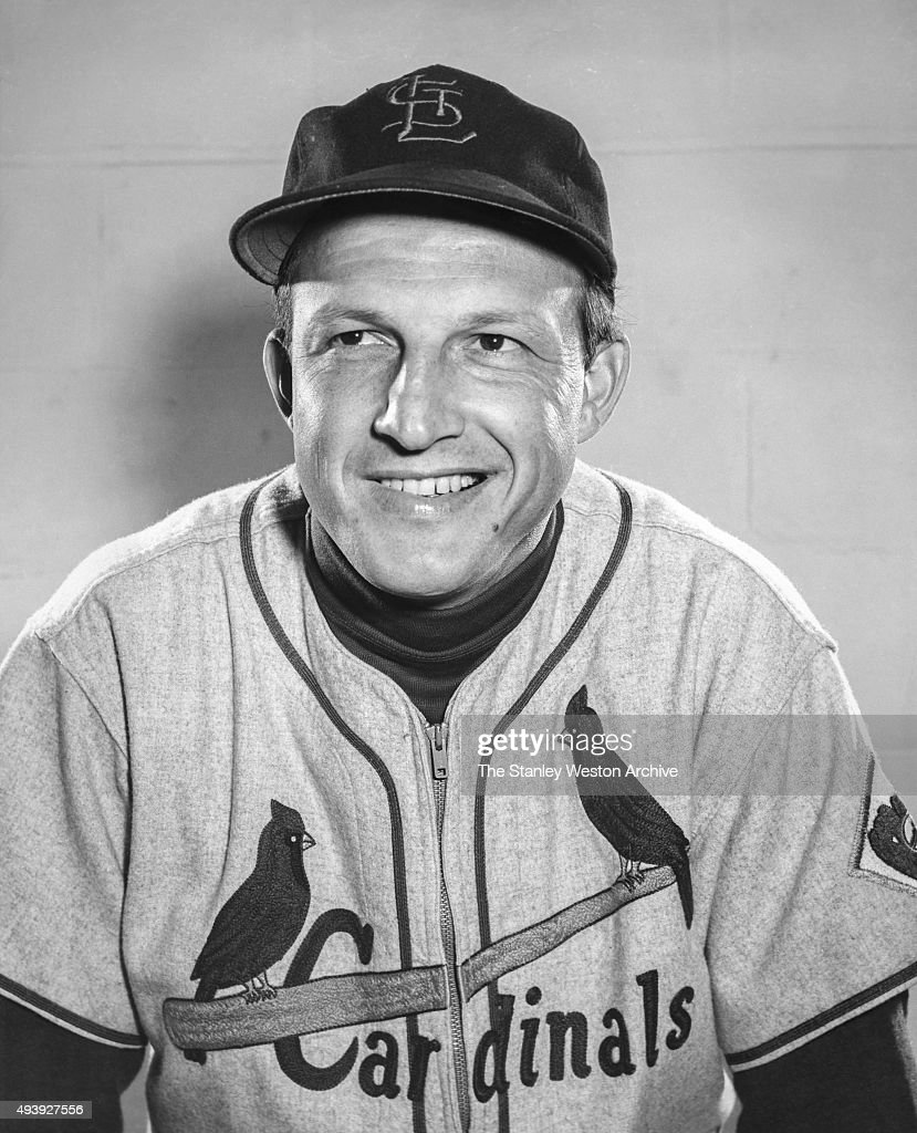 First baseman Stan Musial of the St. Louis Cardinals poses for a portrait circa 1954.