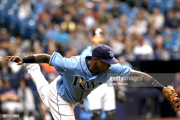 First baseman Tim Beckham of the Tampa Bay Rays hauls in the pop foul by Miguel Sano of the Minnesota Twins for the out during the fifth inning of a...
