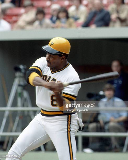 First baseman Willie Stargell of the Pittsburgh Pirates bats during a Major League Baseball game at Three Rivers Stadium circa 1979 in Pittsburgh...