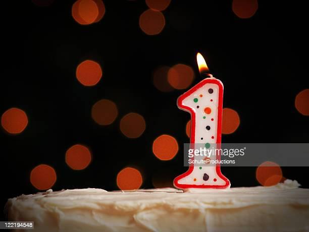 Erster Geburtstag Kerze