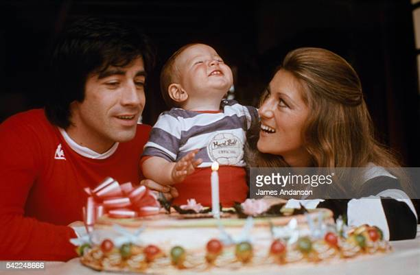 First birthday of Ludovic Chancel son of French singers Sheila whose real name is Annie Chancel and Ringo whose real name is Guy Bayle