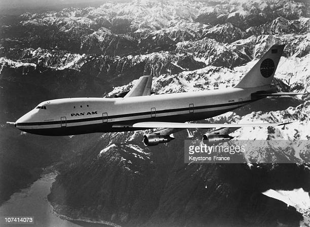 First Boeing 747 From Pan American Airline Flying On January 1970