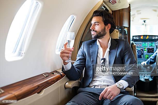 Première classe d'avion jet privé