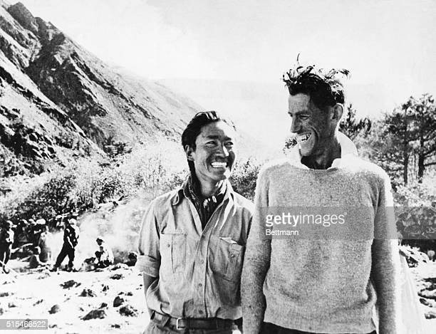 First Conquerors of Mount Everest The British expedition which was the first to conquer the 29000 ft Mount Everest was photographed after their...