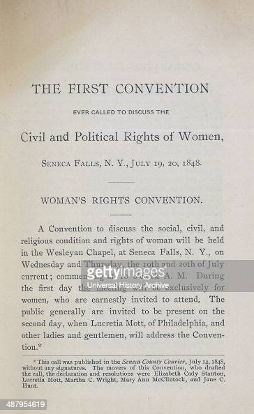The first essay on the political rights of women