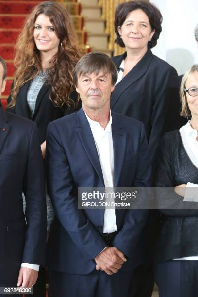 First council of ministers in the Elysee Palace with ministers coming from civil society Minister of the Environment Nicolas Hulot Secretary of state...