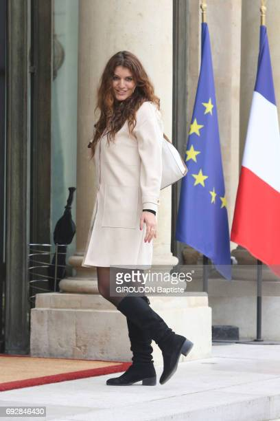 First council of ministers in the Elysee Palace with ministers coming from civil society Secretary of state in charge of gender equality Marlene...