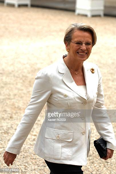 First council of ministers in the new government of Nicolas Sarkozy in Paris France on May 18 2007 Michele Alliot Marie Ministry of the Interior...