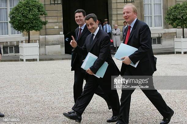 First Council Of Ministers Of Dominique De Villepin Premier Conseil des ministres avec le nouveau Premier ministre Dominique DE VILLEPIN à l'Elysée...