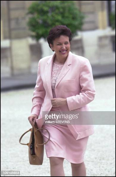 First Council Of Ministers Of The Raffarin Government On October 5Th 2002 In Paris France Roselyne Bachelot