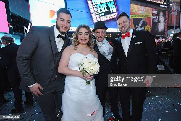 First Couple of 2016 finalists Alfredo Hernandez Monica Corrales Alexander Eisele and Michael Westbrook join George Zimmer Generation Tux wed the...