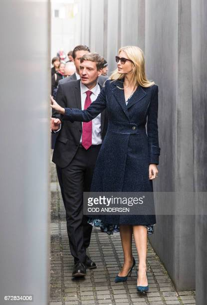 First Daughter and Advisor to the US President Ivanka Trump and director of the Foundation Memorial to the Murdered Jews of Europe Uwe Neumaerker...