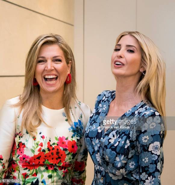 First Daughter and Advisor to the US President Ivanka Trump and Queen Maxima of The Netherlands attend the W20 conference on April 25 2017 in Berlin...