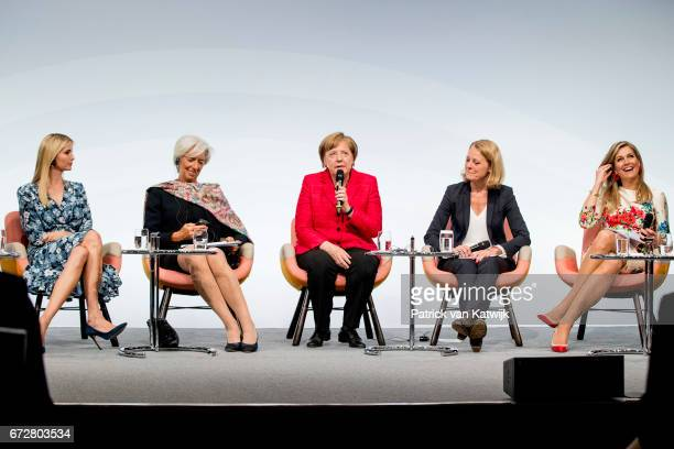 First Daughter and Advisor to the US President Ivanka Trump Christine Lagarde of the International Monetary Fund German Chancellor Angela Merkel...