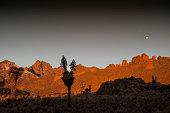 First daylight on Mount Kenya