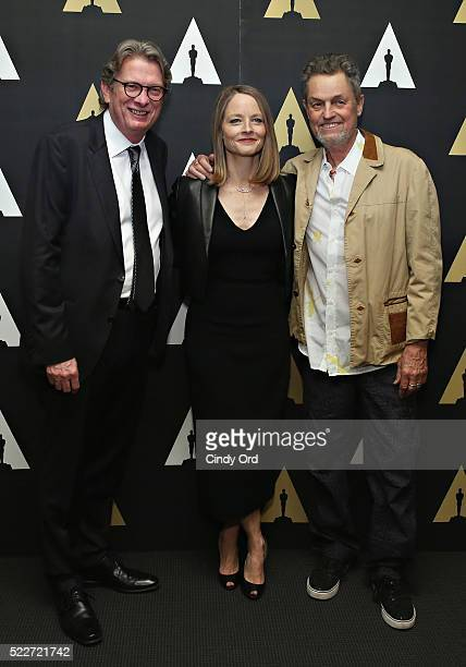 First director of the Academy Museum of Motion Pictures in Los Angeles Kerry Brougher actress Jodie Foster and director Jonathan Demme attend The...