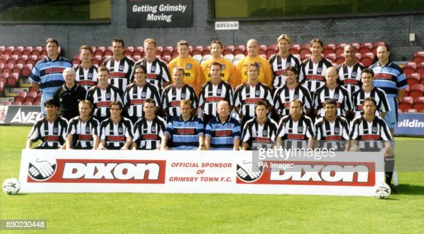 First Division Grimsby Town FC at Blundell Park Stadium * Back Row Ian Knight Paul Groves Richard Smith Steve Livingstone Steve Croudson Danny Coyne...