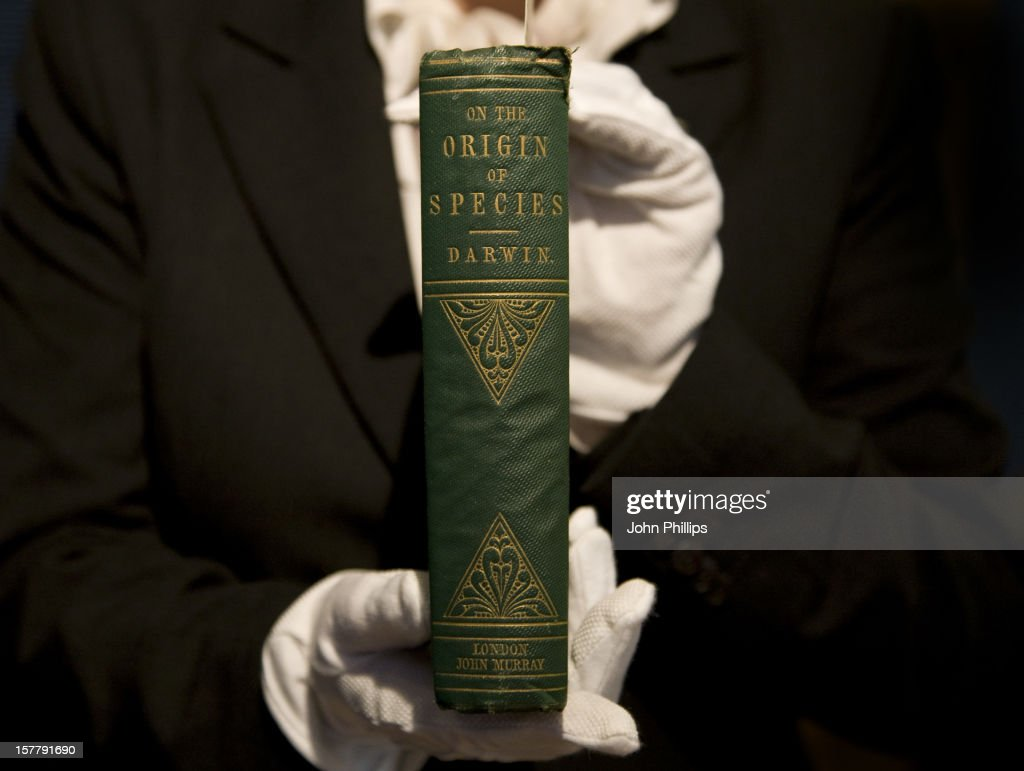 A First Edition Of Charles Darwin'S Groundbreaking Origin Of Species Goes On Display At Christie'S King Street The Book Which Was Published 150 Years...