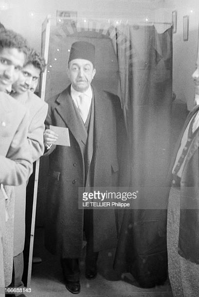 First Elections After Independence In Tunisia En Tunisie lors des premières élections après l'indépendance portrait de Mongi SLIM ministre de...