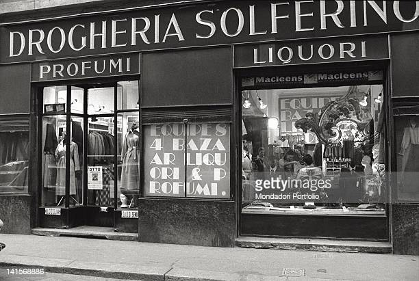 First floor of the Solferino drug store in one of the principal streets of Brera the Latin Quarter of Milan with its luxury restaurants and...