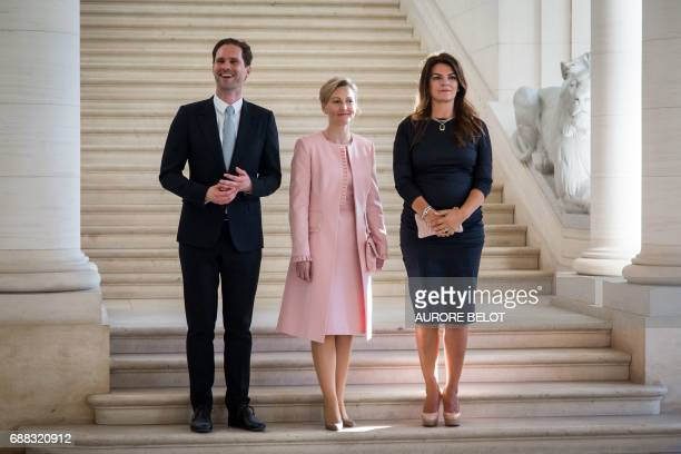 First Gentleman of Luxembourg Gauthier Destenay partner of Slovenia's Prime Minister Mojca Stropnik and First Lady of Iceland Thora Margret...