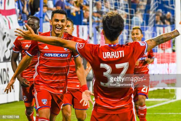 First goal celebration by FC Dallas players goal scored by FC Dallas forward Cristian Colman his first of the season making the score 11 during the...