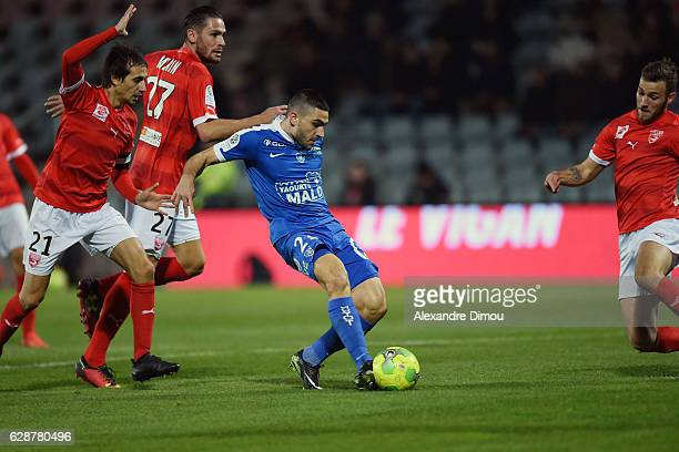 First Goal for Brest by Neal Maupay during the French LIgue 2 match between Nimes and Brest at Stade des Costieres on December 9 2016 in Nimes France