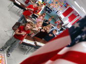 First graders at Longstreth Elementary School pledge allegiance to the flag March 24 2004 in Warminster Pennsylvania An atheist parent Michael Newdow...