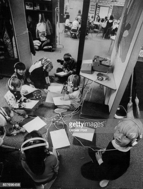 First Graders at Vista Grande Elementary at Work Teacher in background remained with another small group Credit Denver Post Inc
