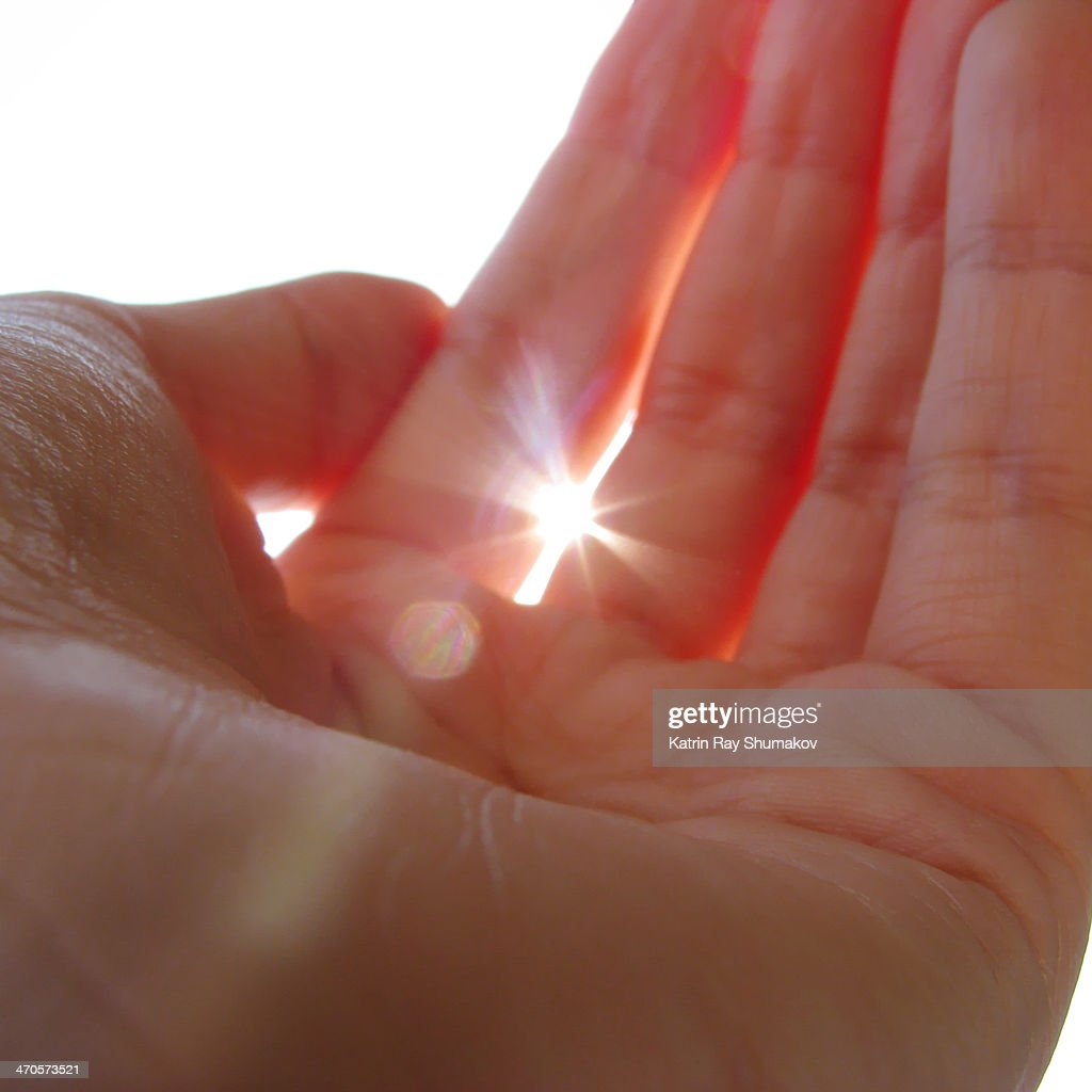 First I got a tiny light... : Stock Photo