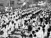 First Independence Day of India celebration Bombay now Mumbai Maharashtra India 15 August 1947