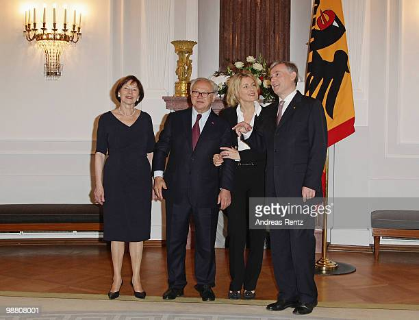 First lady Eva Luise Koehler Hubert Burda head of the Hubert Burda Media Holding with his wife Maria Furtwaengler and German President Horst Koehler...
