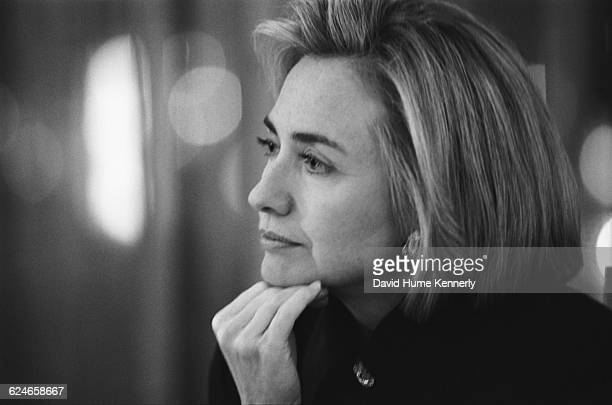 First Lady Hillary Clinton at Bally's Casino in Las Vegas while campaigning for her husband's reelection on October 22 1996