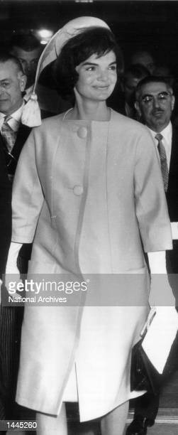 First Lady Jackie Kennedy attends an event March 16 1961 in Washington DC