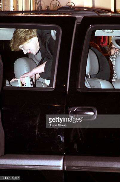 First Lady Laura Bush *EXCLUSIVE COVERAGE* during Laura Bush and Jenna Bush Visit 'Grey Gardens' on Broadway May 29 2007 at The Walter Kerr Theatre...