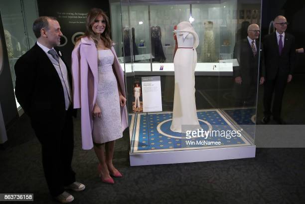 S first lady Melania Trump and fashion designer Herve Pierre Director of the National Museum of American History John Gray and Secretary of the...