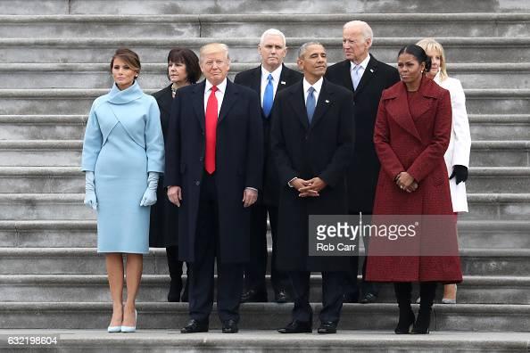 First Lady Melania Trump Karen Pence President Donald Trump Vice President Mike Pence former president Barack Obama former vice president Joe Biden...