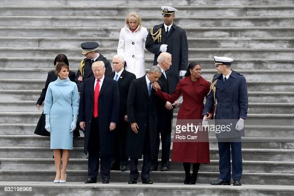 First Lady Melania Trump President Donald Trump Vice President Mike Pence Jill Biden former president Barack Obama former vice president Joe Bidenand...